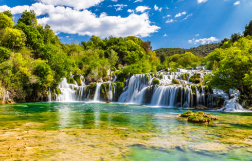 Beautiful Skradinski Buk Waterfall In Krka National Park - Dalmatia Croatia Europe
