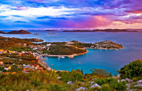 Kornati Islands National Park Archipelago At Dramatic Sundown Vi